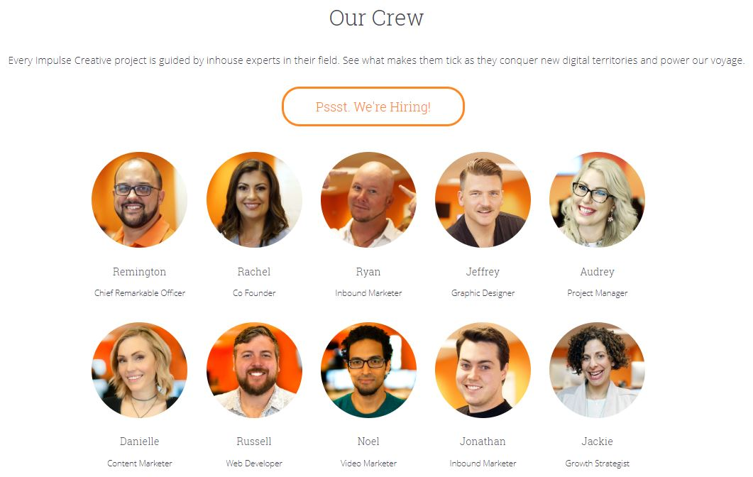 team page example as one of 20 Creative Ways to use HubDB on Your Website