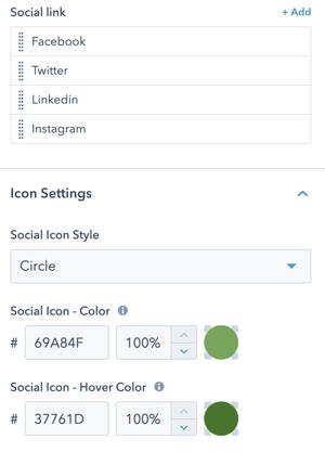 social-links-settings