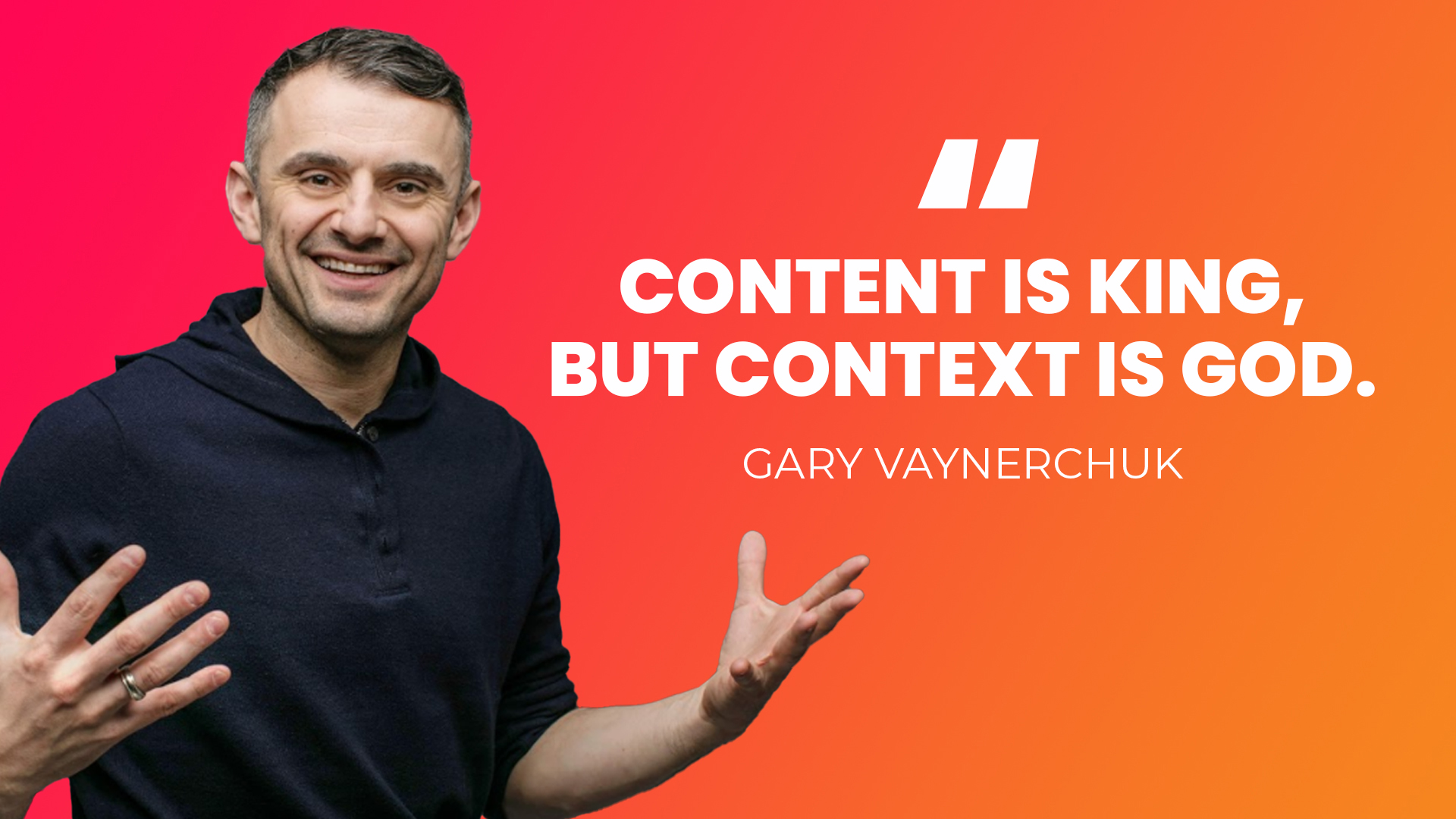 Content is king but context is God