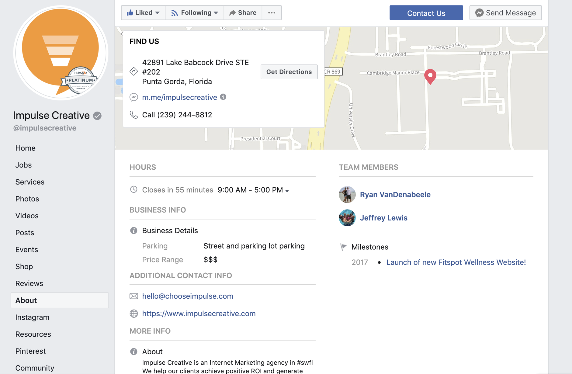 Facebook listing example for Citation Building Still Matters for Local SEO and We Have Proof