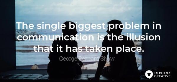 communication quote george bernard shaw