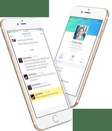 drift vs hubspot conversations mobile app drift