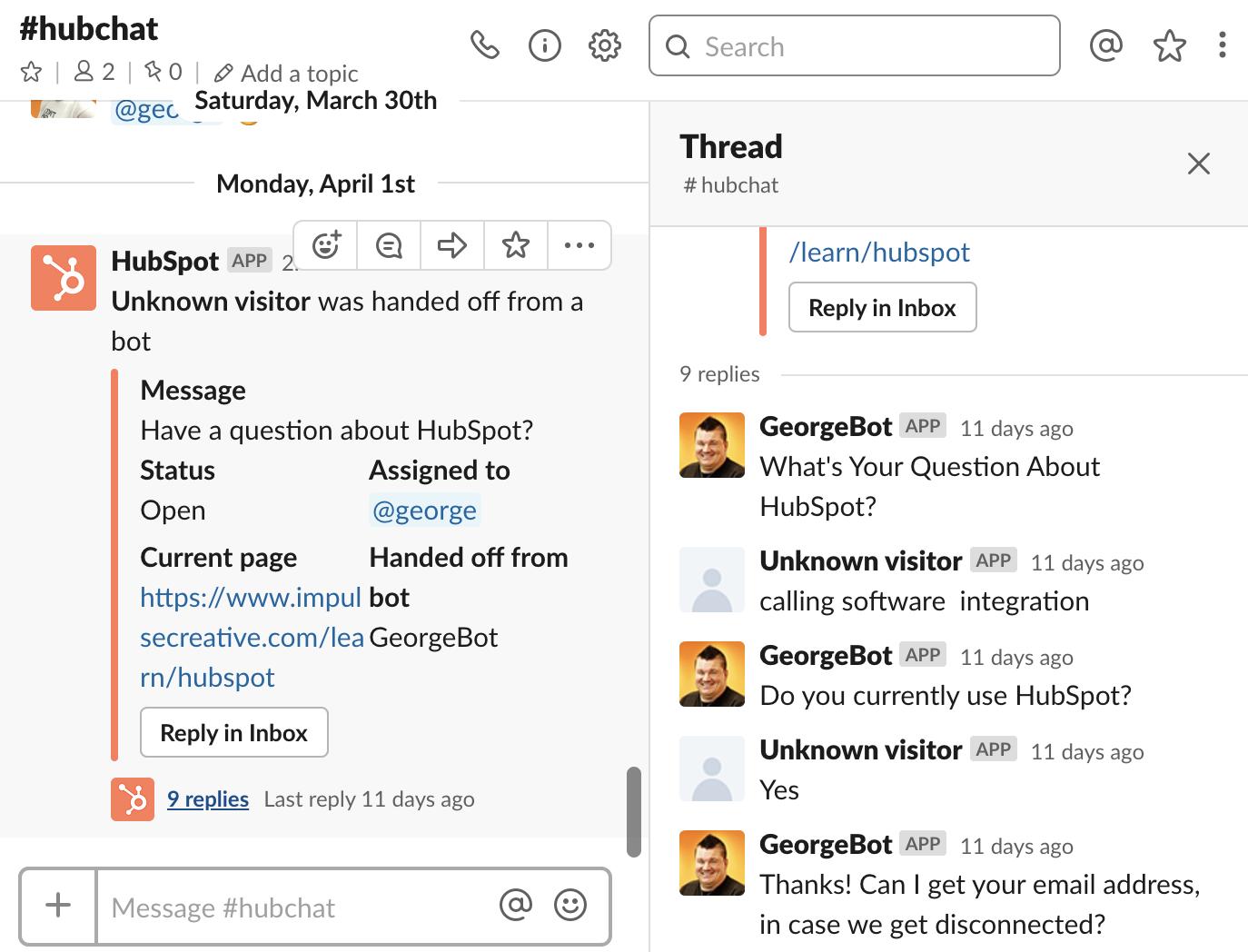 drift vs hubspot conversations slack integration hubspot